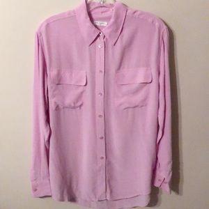 Equipment Silk Shirt Blouse in Lavender Medium